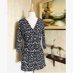 Veronica M Black & White Dress